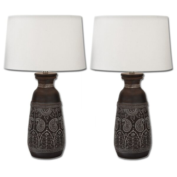 Artisan Unglazed 28 Table Lamp (Set of 2) by Urban Designs
