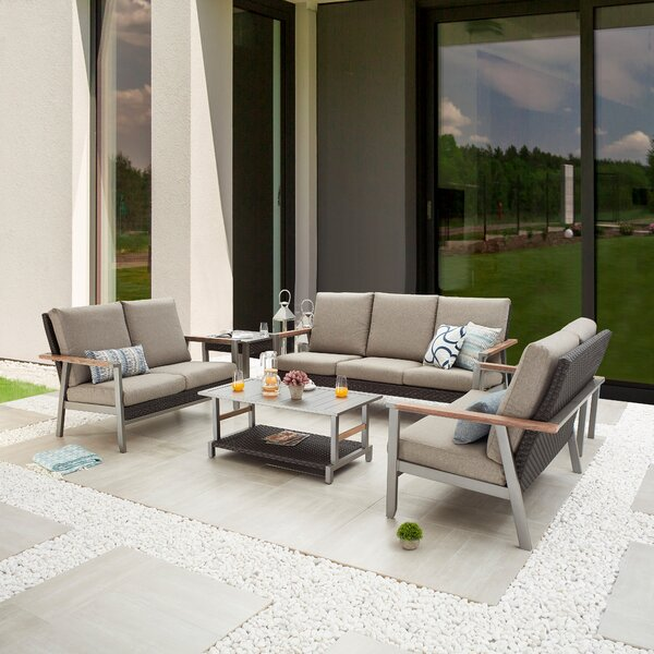 Safiye Outdoor 6 Piece Sofa Seating Group with Cushions by Latitude Run