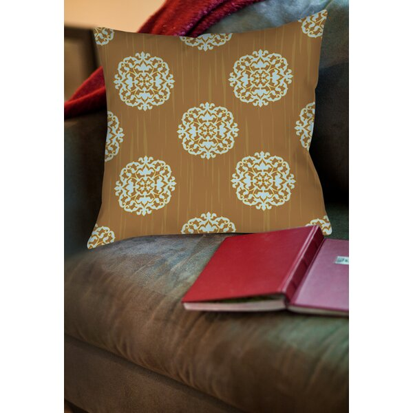 Bold in Blue Medallion Printed Throw Pillow by Manual Woodworkers & Weavers