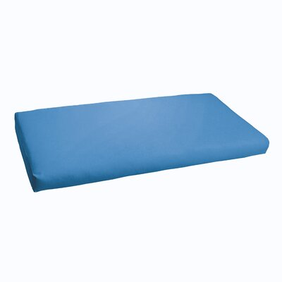 Indoor/Outdoor Bench Cushion Fabric: Light Blue, Size: 48""