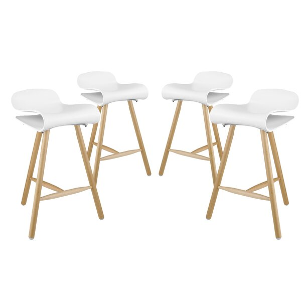 Clip 27 Bar Stool (Set of 4) by Modway