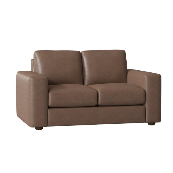 Review Lotte Leather Loveseat