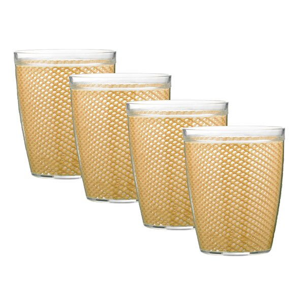 Fishnet 14 oz. Plastic Every Day Glass (Set of 4) by Highland Dunes