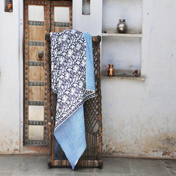 Bazzinotti Floral Block Print Single Quilt