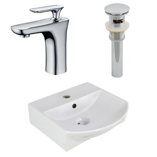 Order Ceramic 13.75 Bathroom Sink with Faucet and Overflow ByRoyal Purple Bath Kitchen