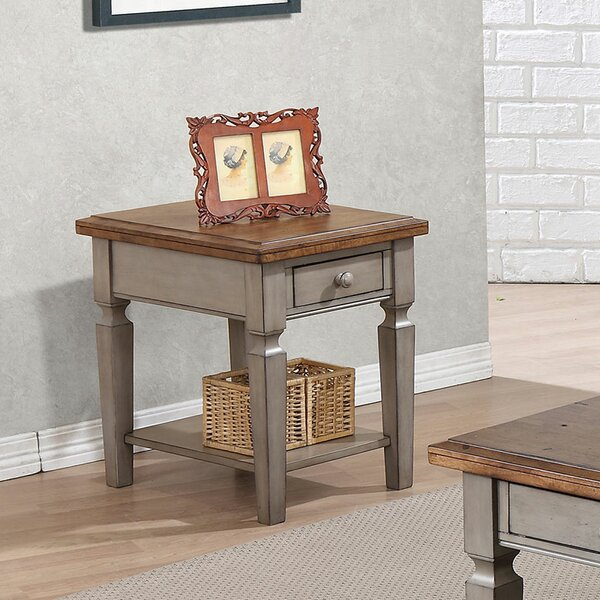 Murtaugh End Table With Storage by August Grove