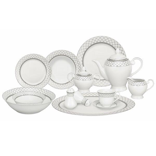Verona Porcelain 57 Piece Dinnerware Set, Service for 8 by Lorren Home Trends