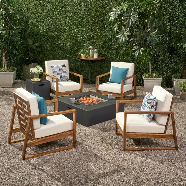 Juengel 5 Piece Sofa Seating Group with Cushions by Ebern Designs