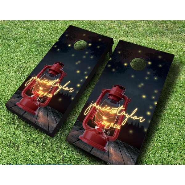 10 Piece Firefly Forest Wedding Cornhole Set by AJJ Cornhole
