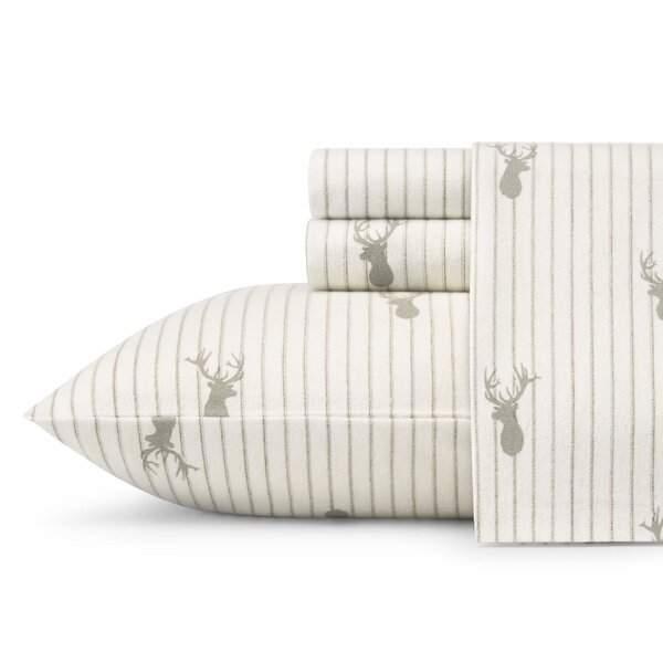 Deer Lodge Flannel Sheet Set by Eddie Bauer