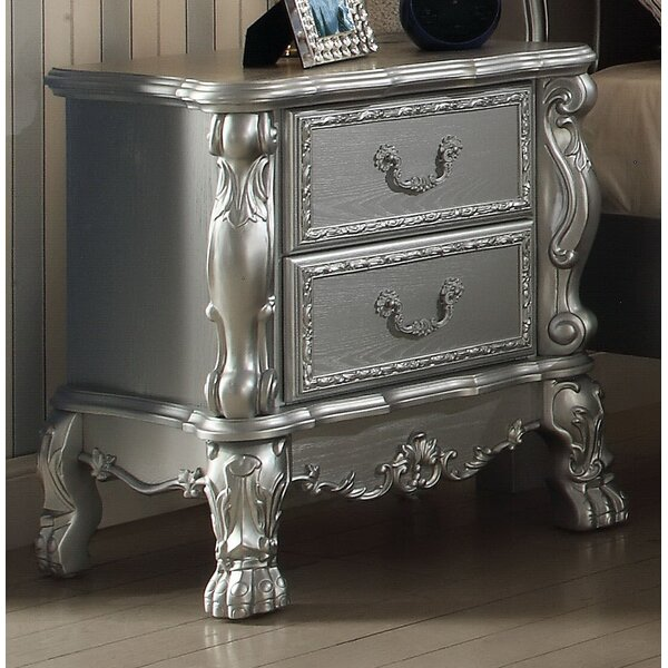 Malintino 2 Drawer Nightstand by Andrew Home Studio