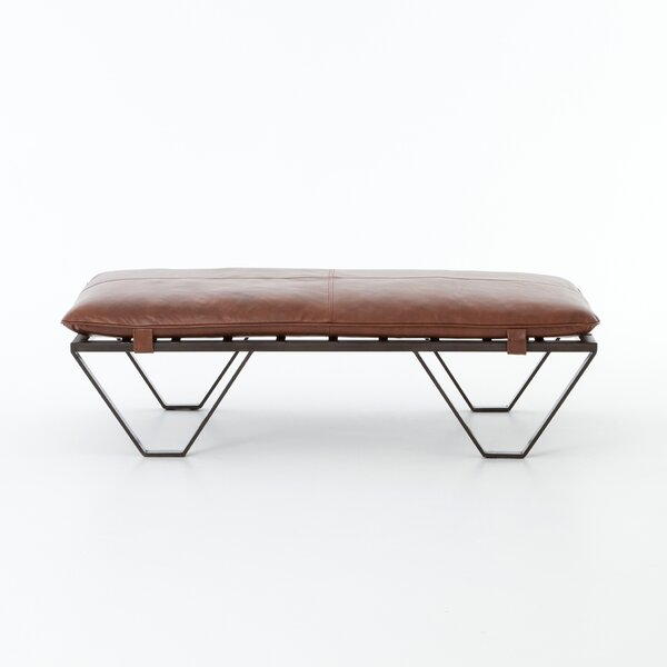 Kelleia Darrow Leather Ottoman by Foundry Select Foundry Select