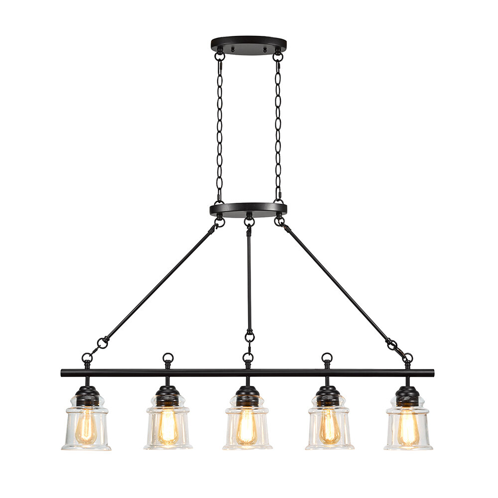 Breakwater Bay Danita 5 Light Kitchen Island Linear Pendant Wayfair