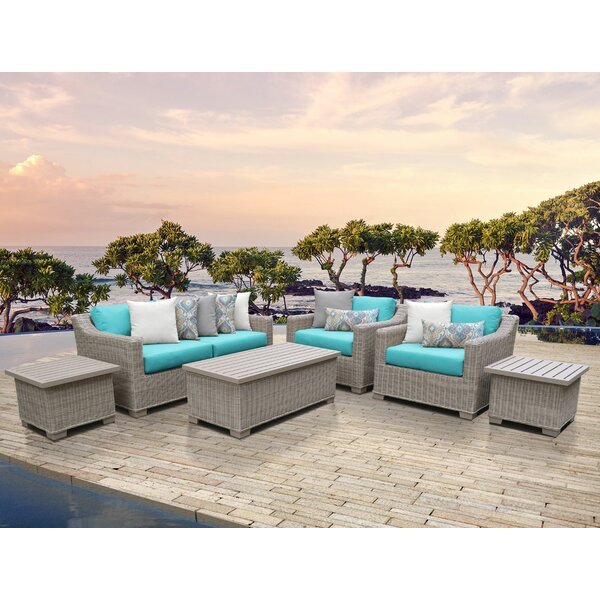 Claire 7 Piece Sectional Seating Group with Cushions by Rosecliff Heights