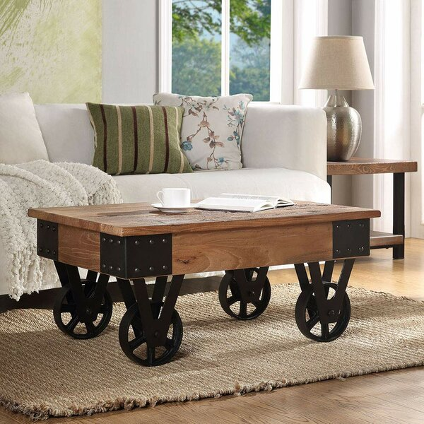Coupland Wheel Coffee Table by Williston Forge Williston Forge