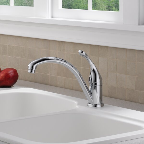 Collins Single Handle Kitchen Faucet with Diamond Seal Technology by Delta