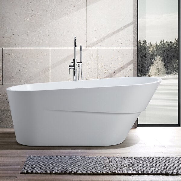 67 x 31 Acrylic Freestanding Soaking Bathtub by Vanity Art