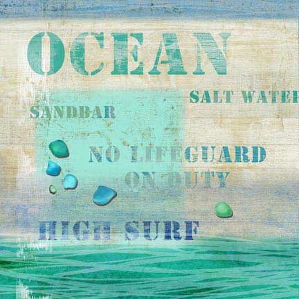 Ocean Wall Art by Vintage Advertisement Plaque by Highland Dunes