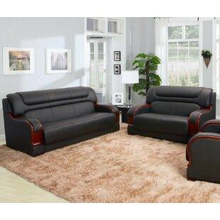 Murphree 2 Piece Leather Living Room Set by Red Barrel Studio®