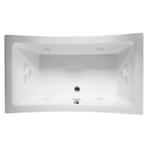 Allusion 72 x 42 Drop In Whirlpool Bathtub by Jacuzzi®