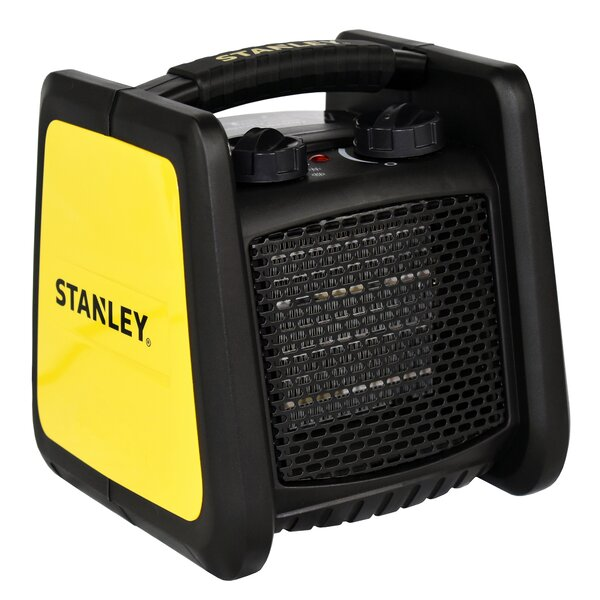 Low Profile 1500 Watt Electric Forced Air Compact Heater By Stanley