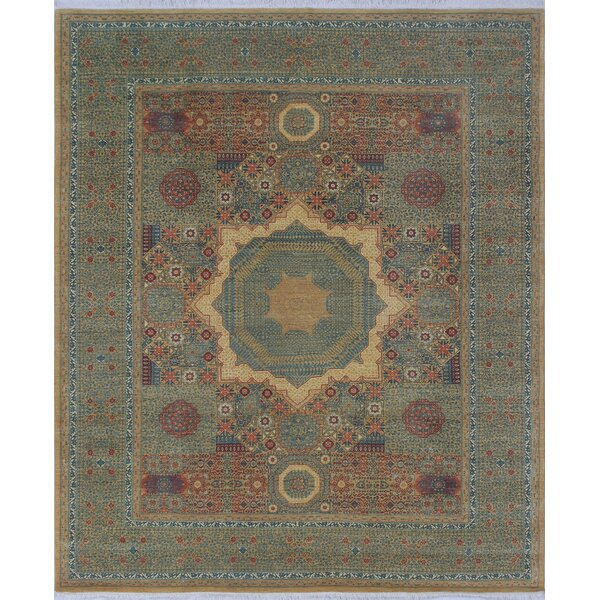 Blanca Hand Knotted Wool Gold Area Rug by Bloomsbury Market