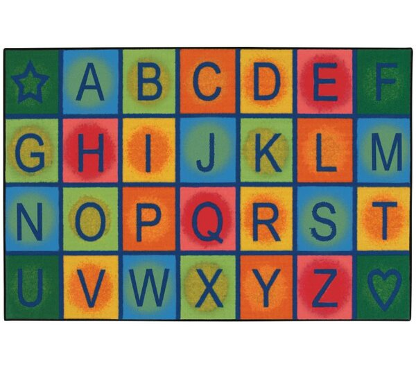 Simple Alphabet Blocks Kids Rug by Kids Value Rugs