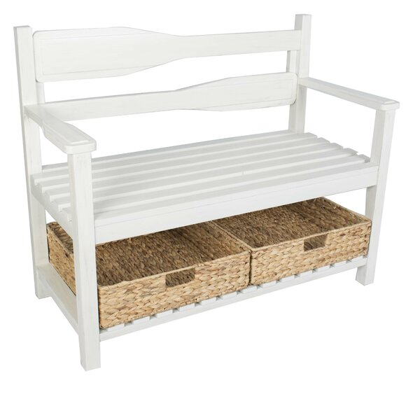 Agustin Paddle Wood Storage Bench by Longshore Tides
