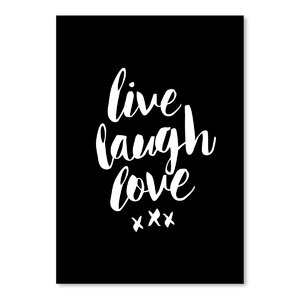 Live Laugh Love Textual Art by Wrought Studio