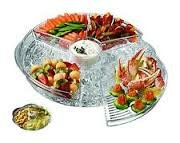 Appetizers on Ice with Lids Keeps Acrylic Tray by Prodyne