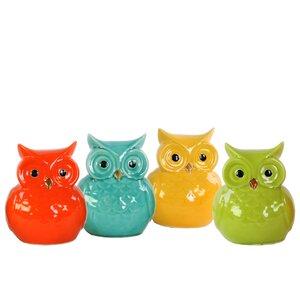 Ceramic Bird Figurine (Set of 4)