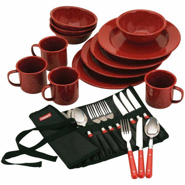 24 Piece Dinnerware Set, Service for 4 by Coleman