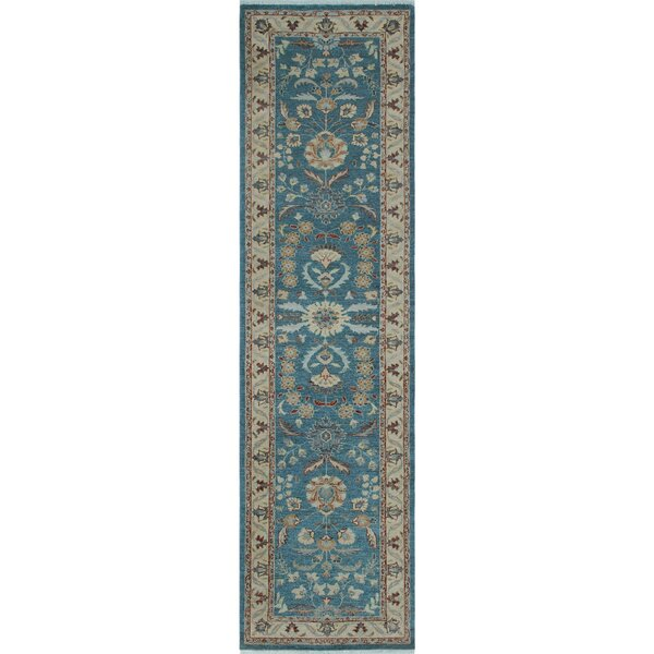 One-of-a-Kind Suzann Fine Chobi Hand-Knotted Blue Area Rug by Isabelline