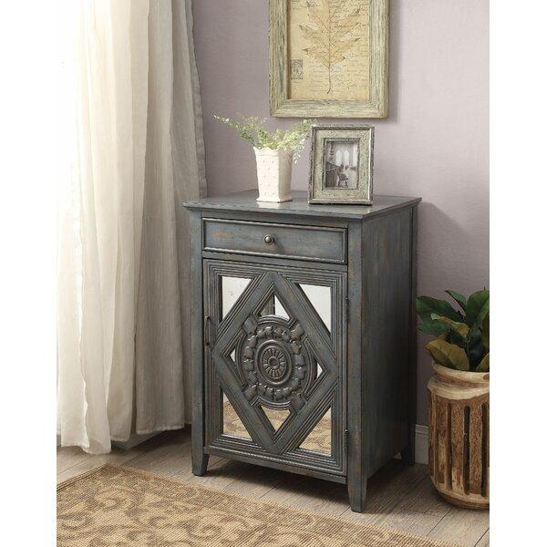 Hausman 1 Door Mirrored Accent Cabinet