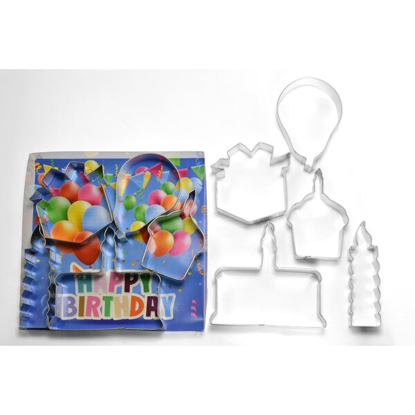 Birthday 5 Piece Cookie Cutter Set by R & M International Corp.