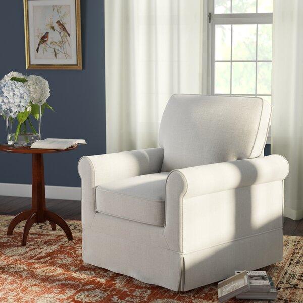 Schumann Swivel Armchair by Three Posts