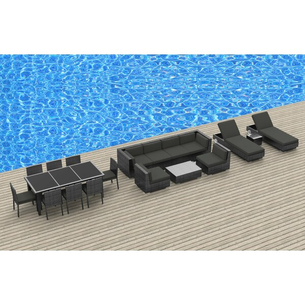 Armiead 19 Piece Complete Patio Set with Cushions by Bayou Breeze Bayou Breeze
