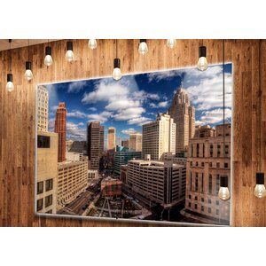 'Amazing Urban City with Skyline' Photographic Print on Metal by Design Art