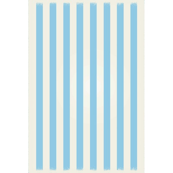 Couto Strips of European Light Blue/White Indoor/Outdoor Area Rug by Ebern Designs