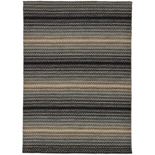 Great Price One-of-a-Kind Groom Hand-Knotted Wool Gray/Black Area Rug By Isabelline