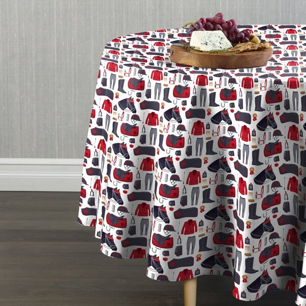 Callie Horse Race and Jockey Gear Table Cloth by Red Barrel Studio