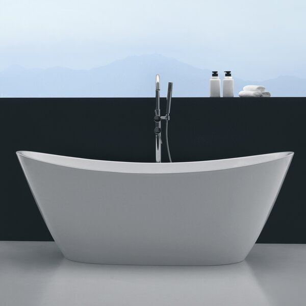 Opalo 67 x 32 Soaking Bathtub by Orren Ellis