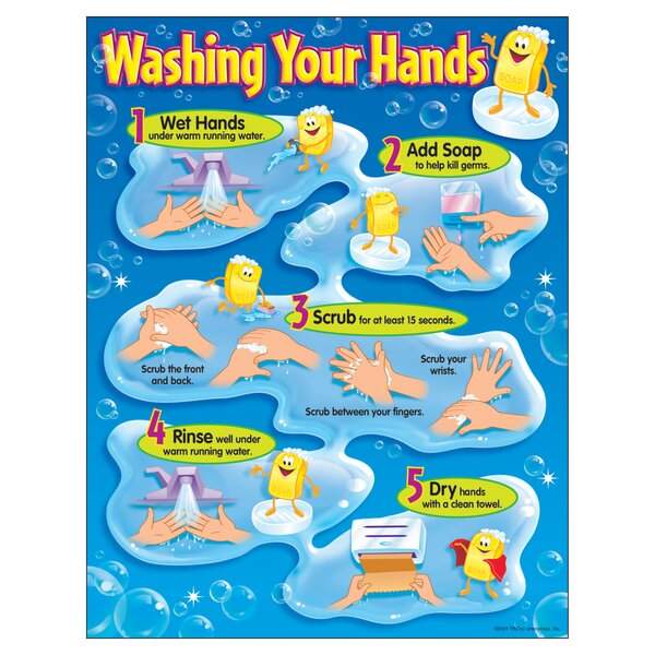 Washing Your Hands Chart by Trend Enterprises