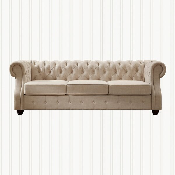 Stowmarket Tufted Chesterfield Sofa By Three Posts