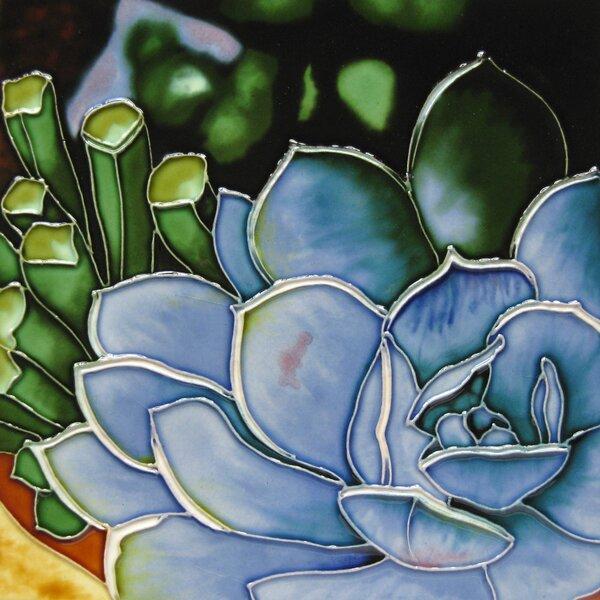 8 x 8 Ceramic Succulent Decorative Mural Tile by Continental Art Center