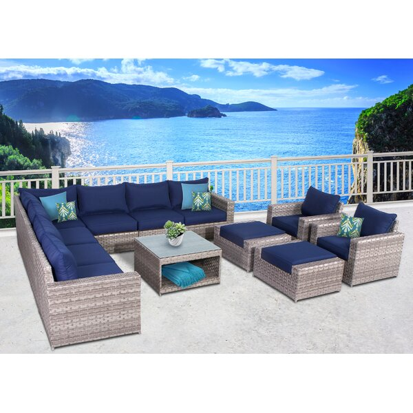 Burkley 12 Piece  Sectional Set with Cushions by Longshore Tides