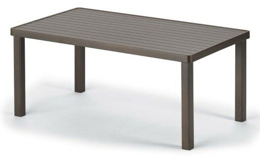 Aluminum Slat Tables Rectangular Aluminum Side Table by Telescope Casual