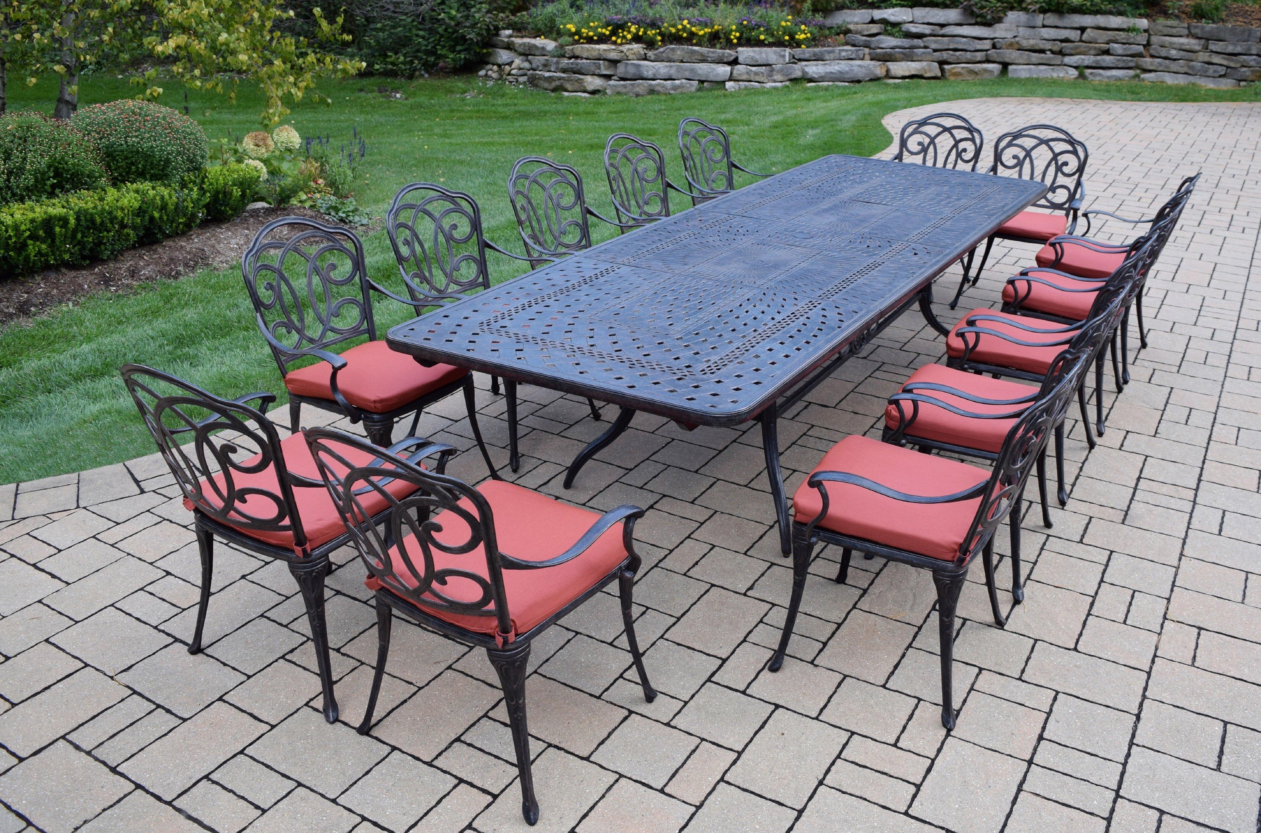 oakland living berkley 15 piece dining set with cushions wayfair