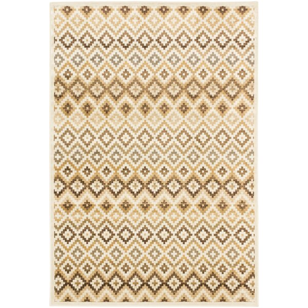 Nichols Beige/Cream Area Rug by Union Rustic