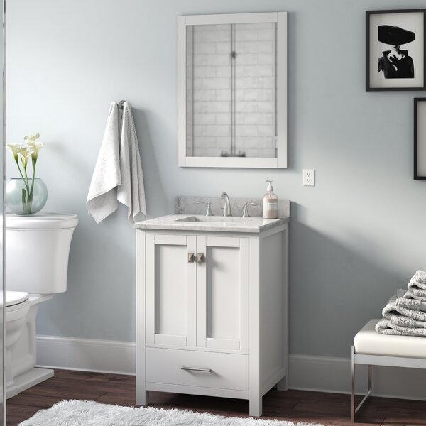 Serigne 24 Single Bathroom Vanity Set with Mirror